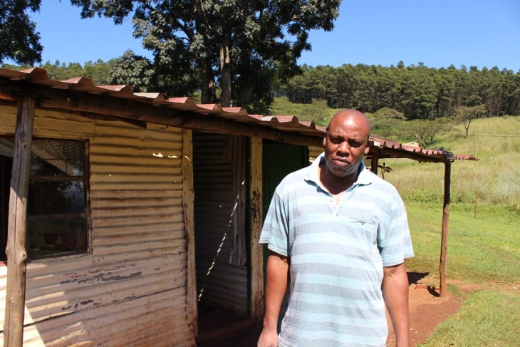 David Mncwabe, community representative at Hilton College Farm, KZN